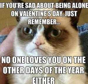C'est cool d'avoir un rancard pour la Saint Valentin plutôt qu'une meuf