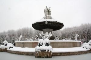 Cette nuit, il a neigé sur X-en-Provence