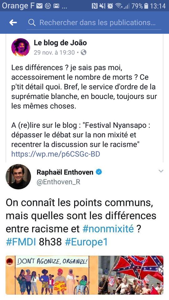 racisme et non mixité