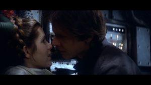 han solo princesse leia baiser
