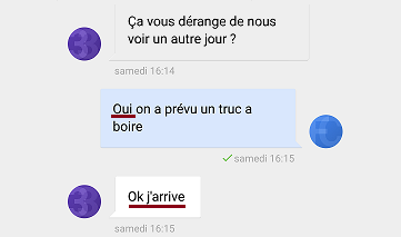 draguer par message